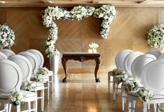 Wedding Ceremony Setup at The Connaught London, Mayfair 5-Star Hotel
