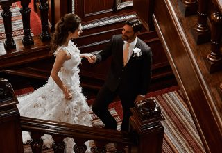 The Connaught London 5-Star Luxury Wedding Venue, Mahogany Staircase