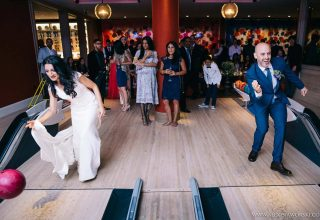 Ham Yard Hotel Wedding Venue, Bowling Alley, Photography by Alexis Jaworksi