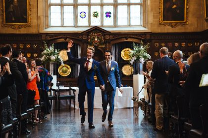 Ironmongers' Hall Wedding Venue, Banqueting Hall, Photography by Lydnsey Goddard