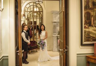 The Connaught Wedding Venue, Entrance, Photography by Guy Collier