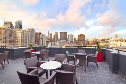 Rydges Sydney Central Social Drinks, Rooftop