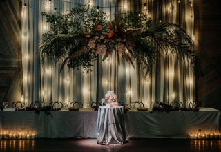 Cargo Hall Wedding Head Table Cake