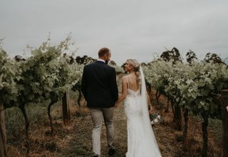 Elmswood Estate Wedding Yarra Valley Winery Photo by One Spoon Two Spoon Couple Vineyards Autumn