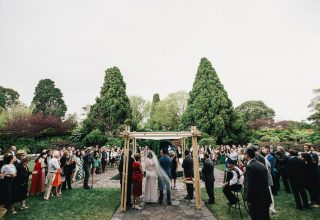 Private outdoor wedding ceremony at Royal Botanic Gardens Melbourne