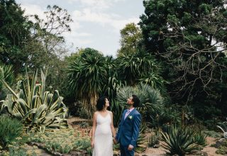 Wedding photo of bride and groom at Jardin Tan wedding