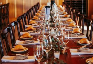 Table set for dinner Vue on Halcyon events Photo by White Oak Photography
