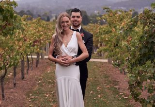 Vue on Halcyon Wedding Winery Couple Vines Photo by Lost in Love Photography