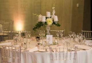 ZINC Federation Square weddings, table decor