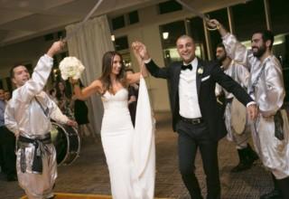 ZINC Federation Square weddings, bride and groom