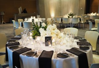 ZINC Federation Square Melbourne weddings, table decorations
