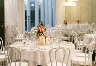 ZINC Federation Square Melbourne weddings, Sophia and Jason table setting