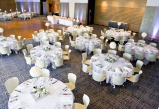 ZINC Federation Square Melbourne weddings, round table setup