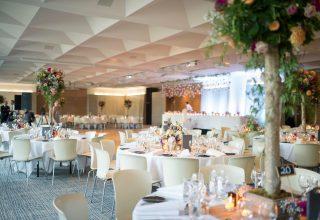 ZINC Federation Square weddings, round table wedding reception setup