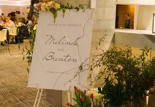 ZINC Federation Square Melbourne weddings, welcome sign
