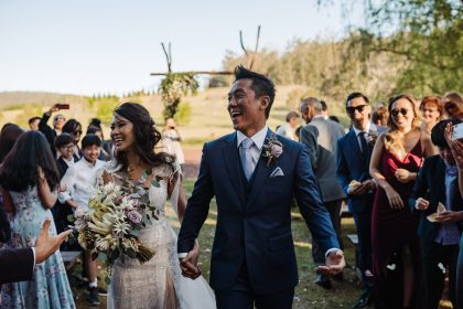 The Woodhouse Wollombi outdoor wedding ceremony Hunter Valley wedding venue