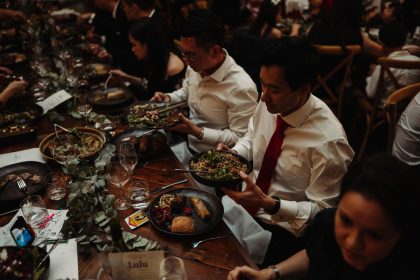 The Woodhouse Wollombi wedding dinner