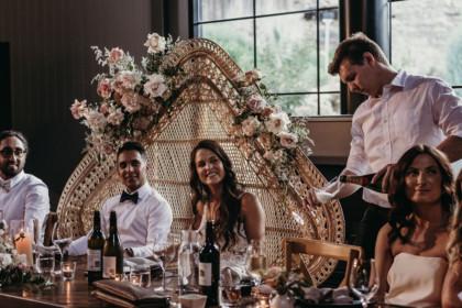 The Woodhouse Wollombi weddings bridal table wedding couple