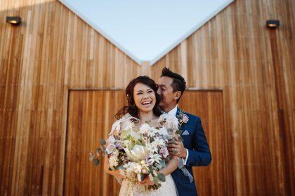 The Woodhouse Wollombi weddings bride and groom