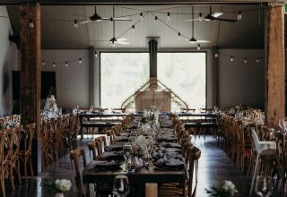 The Woodhouse Wollombi weddings interior table setup