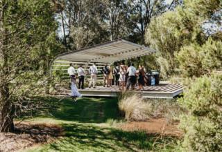 The Woodhouse Wollombi weddings lakeside pavilion