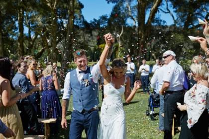 the woodhouse wollombi wedding couple outdoor ceremony