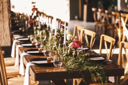 woodhouse wollombi weddings reception table setup
