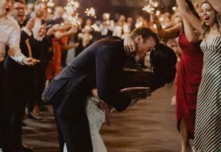 Sydney Urban Winery Wedding Sparkler Couple Departure