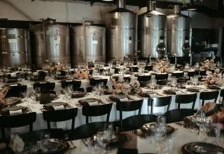 Sydney Urban Winery Wedding Reception Tables