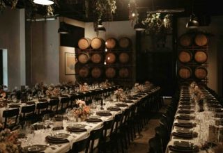 Sydney Urban Winery Long Dining Tables Dinner Party