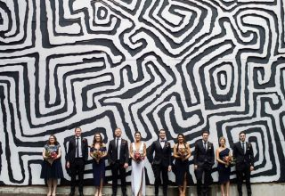 Feature Wall Bridal Party Urban Winery Sydney