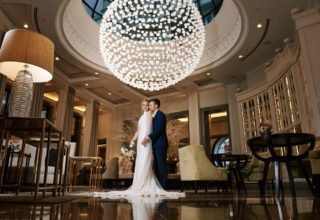 Corinthia London Hotel Wedding Lobby Photo by KND Photography
