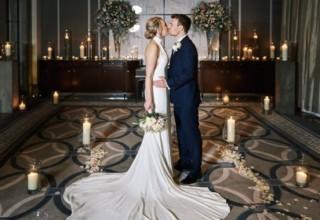 Corinthia London Wedding Couple Candlelight Photo by KND Photography