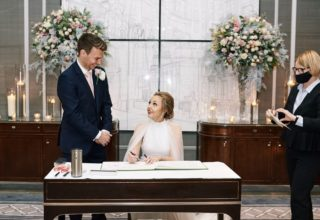 Corinthia London Wedding Ceremony Signing Photo by KND Photography