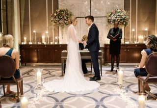 Corinthia London Small Wedding Ceremony Candles Photo by KND Photography