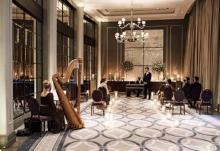 Corinthia London Small Wedding Ceremony Harpist Photo by KND Photography