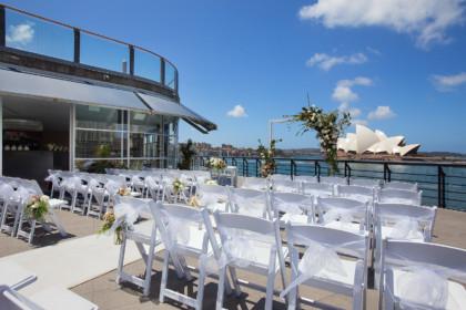 Cruise Bar Sydney Rooftop Ceremony Venue overlooking Sydney Opera House