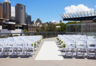 Cruise Bar Sydney Waterfront Wedding Venue rooftop ceremony
