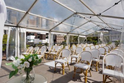 Cruise Bar Sydney Wedding Ceremony Venue rooftop marquee