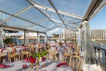 Cruise Bar Sydney waterfront marquee wedding