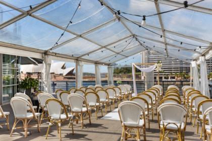 Cruise Bar Sydney Wedding Venue Circular Quay marquee weddings