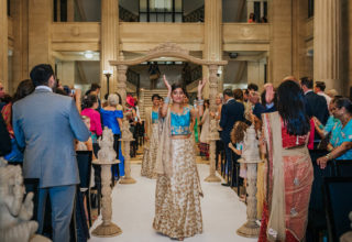 London Banking Hall Wedding Bridal Party Indian Photo by Epic Moments UK