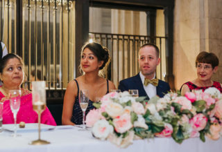 London Banking Hall Wedding Couple Dinner Photo by Epic Moments UK