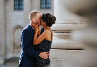 London Banking Hall Wedding Couple Outside Photo by Epic Moments UK