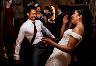 Couple Dancing Wedding Brunswick House Cellar