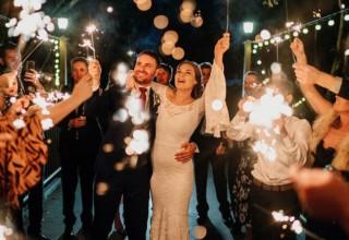 Coolibah Downs Private Estate Wedding Sparkler Send Off