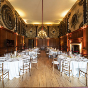 Hampton Court Palace Private Events Venue King's Guard Chamber Set for Dinner
