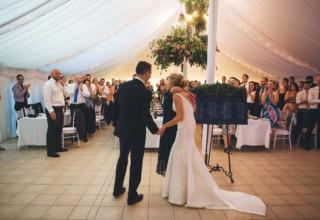 Bundaleer Rainforest Gardens Brisbane Wedding Venue Couple Inside Marquee