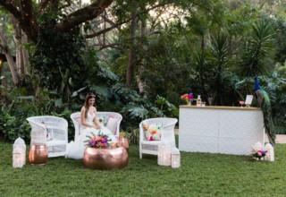 Bundaleer Rainforest Gardens Brisbane Wedding Venue Bride Garden Seating