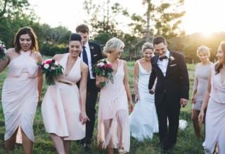 Bundaleer Rainforest Gardens Brisbane Wedding Venue Bridal Party Outside